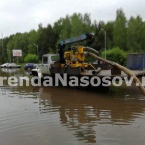 Осушение подтопления в Химках (до)