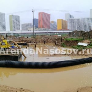 Откачка воды в ЖК Саларьево Парк